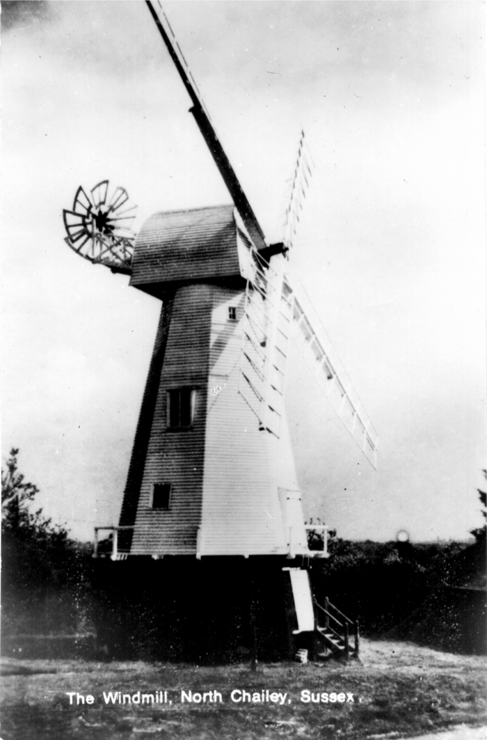 Chailey Mill showing fantail